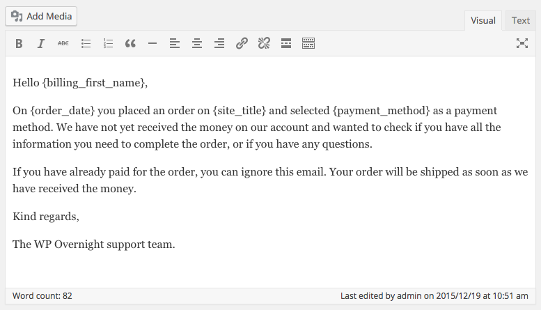 Creating a woocommerce payment reminder | WP Overnight