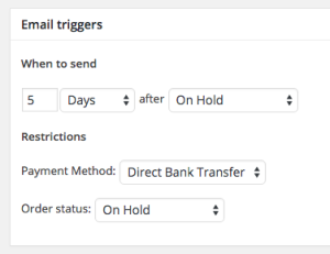 WooCommerce Payment Reminder triggers