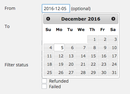 WooCommerce Print Address Labels date selecter