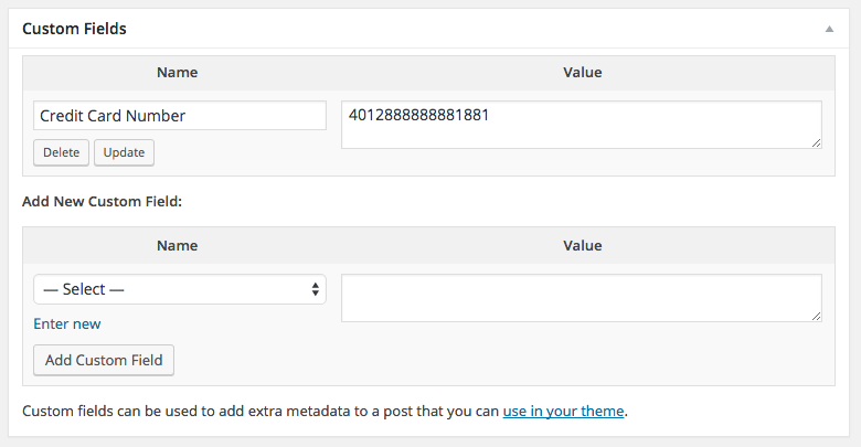WooCommerce Order Custom Fields